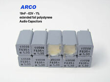[15x ]  ARCO KS -  10nF  1% 63V polystyrene foil Audio capacitors  x 15 PIECES