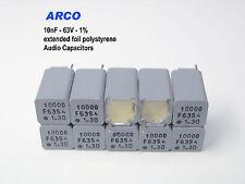 ARCO KS -  10nF  1% 63V polystyrene foil Audio capacitors  x 1000 PIECES