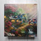 Thomas Kinkade Jigsaw Puzzle Mickey and Minnie Sweetheart Bridge 750 Pcs Ceaco
