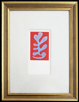 Fine Henri Matisse 'Algue Bleue' Pochoir Hand Painted COA Not Signed 1953
