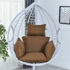 Hanging Hammock Chair Rocking Swing Garden Outdoor Soft Cushion Seat Bedroom