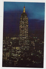 empire state building et night , new york city