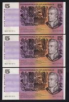 Australia R-204. (1972) Five Dollars - Phillips/Wheeler.. aU-UNC - CONSEC Trio