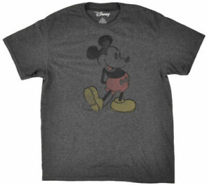 Disney Steamboat Mickey Mouse Distressed Retro Men's T Shirt