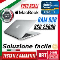 PC NOTEBOOK PORTATILE APPLE MACBOOK AIR 13 CPU I7 DUAL 1,7 GHz RAM 8GB SSD 256GB
