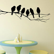 2017 Wall stickers Decal Removable Black Bird Tree Branch Art Home Mural Decor