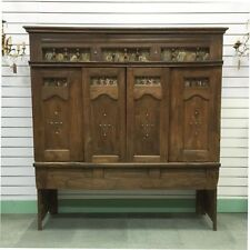 Antique French Oak Lit Clos Bed Rare Television Cabinet Bookcase Bedhead - i252