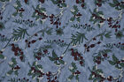 Patchwork tissu coton américain DEBBIE MUMM 45 cm x 55 cm Houx fond fond bleu
