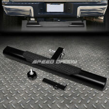 "35"" x 4"" OVAL 2"" RECEIVER BLACK TRAILER TOWING/HITCH REAR STEP BAR/BUMPER GUARD"