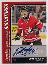 2011-12 O-Pee-Chee CODY HODGSON Team Canada Signatures 1 in 1407 Packs OPC