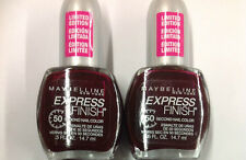 2 X Maybelline Express Finish 50 second Nail Polish Color DIVINE WINE #641.