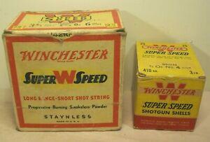 vtg~WINCHESTER~SUPER SPEED~410 GA. 4 SHOT & 12 GA. 6 SHOT SHOTGUN SHELL BOXES~~