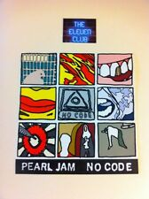 Pearl Jam 1996 No Code Ames Sticker Sheet 9 Polaroid + Logo Vedder VTG Rare OOP