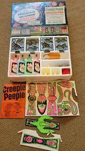 VINTAGE '65 MATTEL CREEPLE PEEPLE MAKER-PAK PLASTICGOOP TOY CRAFT KIT WIG,PAPER