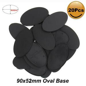 MB990 20pcs Oval Bases 90X52mm Oval Plastic Bases For Miniature Wargames