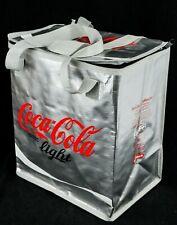 Coca Cola Light, XXL Kühltasche, Kühlbox, Tragetasche, silberne Ausführung