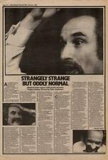Holger Czukay Can Interview NME Cutting 1982