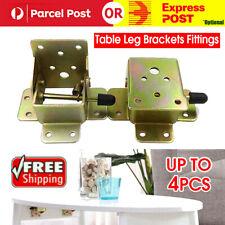 4Pcs Folding Table Leg Brackets Fittings Self Lock Extension Foldable Hinge DIY