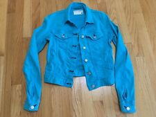 RAG & BONE JEANS  Women's Jacket Bomber stretchy Moto TURQUOISE size SMALL