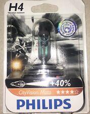 PHILIPS H4 CITY VISION MOTO H4 MOTO PHILIPS VISION +40% di luce