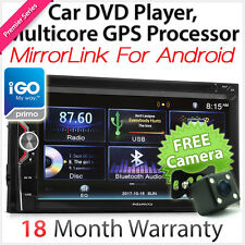 iGO Primo MirrorLink Double 2 DIN In Car Dash DVD GPS Player Stereo Radio USB CD