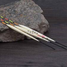 3Pcs Fishing Floats Bobbers Barr Wood Fishing Tackle Tools Lightweight K9E4