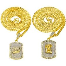 Men Hip Hop Iced Out Emoji 100 Jesus Crystal Pendant Dog Tag Chain Necklace New