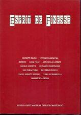 CORRADINI Mauro, MARGONARI Renzo (testi di), Esprit de finesse