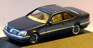 Mercedes Benz S-CLASS 600 Seconds W140 Coupe 1992-98 Blue Metallic 1:87 Herpa