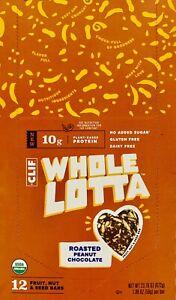 CLIF Whole Lotta Roasted Peanut Chocolate 12 Fruit,Nut & Seed Bars Protein-T5