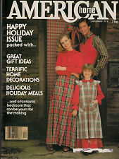 American Home 1977 Christmas Holiday Meals Recipes Crafts Decorating Small Trees