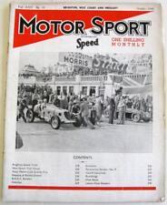 MOTOR SPORT/ Speed Magazine Vol 22 No 10 Oct 1946