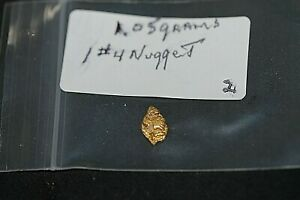 GOLD NUGGETS 1.05 GRAMS,ALASKA PLACER 1 # 4, 20.5K TO 22K PURITY, LOW SHIPPING*.