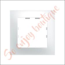 HAGER WKN401 - Plaque 1 poste blanc Névé - Gamme Kallysta Pop
