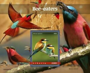 Liberia Birds on Stamps 2020 MNH Bee-Eaters European Bee-Eater 1v S/S