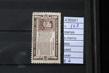 STAMPS SAN MARINO ITALY USED USATI N. 168 (A36991)