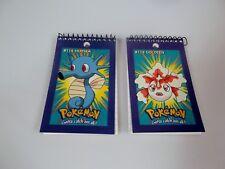 Pokemon Memo Books Note Pads Horsea Goldeen 1998 60 Sheets (Set of 2) Rare 3 x 5