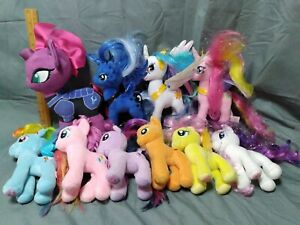 My Little Pony Plushes Lot of 10 Various Sizes