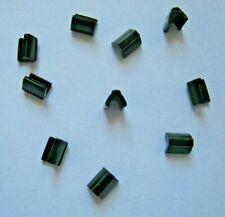 10-25 Endstücke für Endlos Reißverschlüsse 3mm Nickel Gold Stopper Endstück
