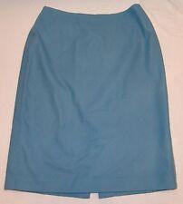Ann Taylor Wool Blend Straight Skirt 6 Womens Light Blue Pencil