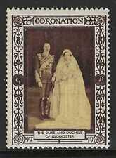 Great Britain, King George Vi 1937 Coronation, Duke of Gloucester, Poster Stamp