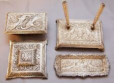 A rare and beautiful silver plate desk set made by Yanni Douatzis 1952