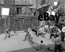 filming SPARTACUS Super Technirama 70 mm rare 8x10 photo KUBRICK Kirk Douglas #2
