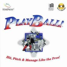 PlayBall! PC CD strategies for baseball hitting pitching player coach ball game!