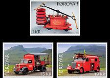 Faroer 2016 Brandweerwagens    Fire Trucks    postfris/mnh