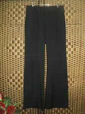LADIES CUE IN THE CITY BLACK FINE PINSTRIPE FORMAL WORK PANTS - SIZE 10 NEAR NEW
