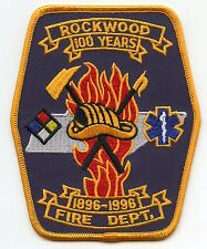 ROCKWOOD TENNESSEE TN 100 Year Anniversary FIRE PATCH