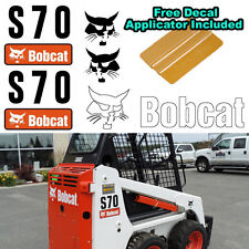Bobcat S70 Skid Steer Set Vinyl Decal Sticker 5 PC SET + FREE DECAL APPLICATOR
