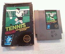 Tennis for Nintendo NES Game Cartridge & Original Box Only