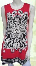 Tunic Top Red Black Drape Plus Size 10 12 14 16 18 20 EVERSUN Paisley Floral